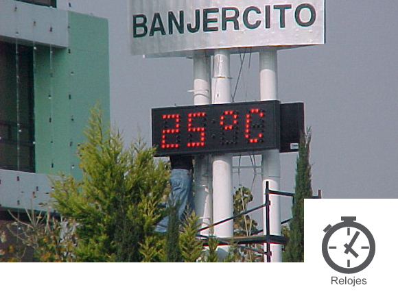 relojes digitales con temperatura
